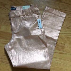Old navy metallic pixie pants